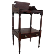 American Mahogany One Drawer Wash Stand Side Table
