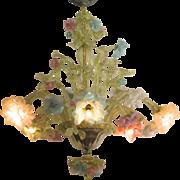 Fine Venetian Blown Glass Chandelier Multicolored