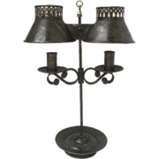 French Tole Student's Lamp Early 19th Century