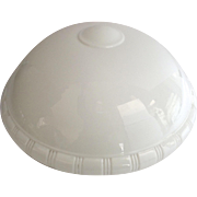1910 Milk Glass Ceiling Shade Globe