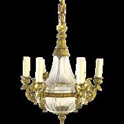 Very High Quality Empire Style Chandelier Crystal Ormolu Bronze Dore