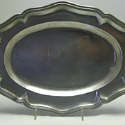 French Pewter Wavy Edge Platter 18th Century