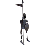 Large Sculpture of a Knight by Varian Ashbaugh