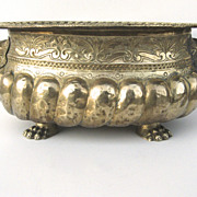 English Brass Oval Jardiniere
