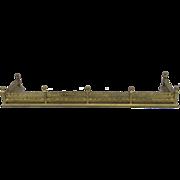 English Brass Pierced Fireplace Fender