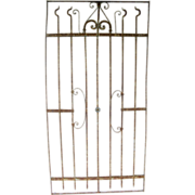 French Iron Panel Gate Small Flowers
