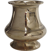 English Georgian 18th Century Brass Vase Ring Turned Decoration