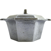 Vintage Octagonal Pewter Lidded Dish by the International Silver Co.