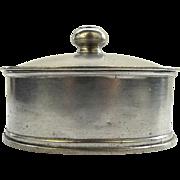 Vintage Italian Labrazed Oval Pewter Lidded Dish