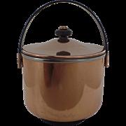 Vintage 1950's 1960's Copper Ice Bucket Nice Quality