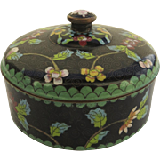 Chinese Cloisonne Lidded Dish