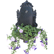 1890's Cast Iron Wall Fountain Planter Lavabo