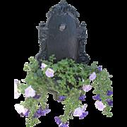 1890's Cast Iron Wall Fountain Planter Lavabo