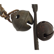 Vintage Horse Sleigh Bells Leather Strip
