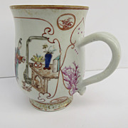 Chinese Export Famille Rose Porcelain Mug