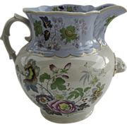 Monumental English Ironstone Pitcher c 1850