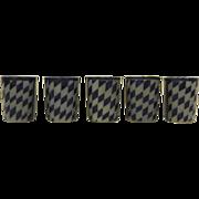 Set of 5 Vintage Reinhold Merkelbach Tumblers Glasses Cups