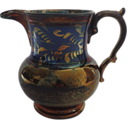 English Copper Luster Creamer by Allertons Longton, England
