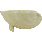 Belleek Neptune Shell Small Footed Bowl Green Mark 1965-1980
