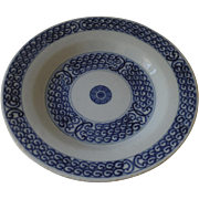 Delft Blue and White Glazed Dish c 1800