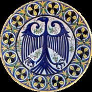 Italian Majolica Charger Eagle Motif