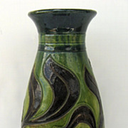 European Pottery Glazed Vase c 1920