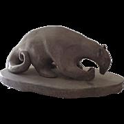 SOLD Anteater Folk Art Pottery Sculpture by Frances Jean Sherman
