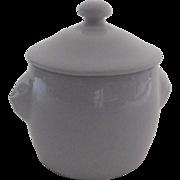 Vintage Lion's Head Lidded Apilco Made in France Pot de Creme or Condiment Jar ...