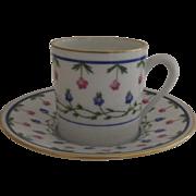 Vintage 1960's 3 x Raynaud Ceralene Limoges France Porcelain Espresso Cups and Saucers  ...