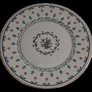 """Vintage 1960's 4 x Raynaud Ceralene Limoges France Porcelain Dessert Plates """"Lafayette"""""""