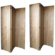 Chip Carved Custom Wood Monumental 6 Six Panel Screen