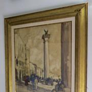 Watercolor by George Elmer Browne