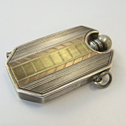 French Deco Silver Gold Perfume Emery Chatelaine