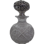 Sterling James R. Armiger Baltimore Repousse Glass Perfume Bottle 8""