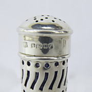 Sterling Silver Hallmarked Pepper Pot Pepperette by Atkin Brothers