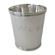 Sterling Silver Mint Julep Cup by Jaccard & Co, St. Louis.