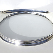 Sterling and Glass Bottom Tray