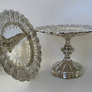 Pair of English Sterling Footed Dessert Stands Compotes Tazzas by Robert Garrard c 1845