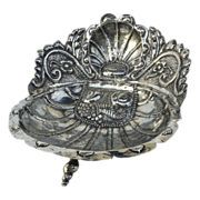 Spanish Colonial  Silver Shell Dish