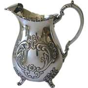 Vintage Sterling Poole Hand Chased Old English Water Pitcher 1950's