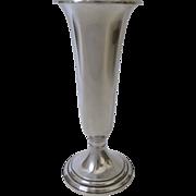 Vintage Gorham Sterling Silver Trumpet Vase