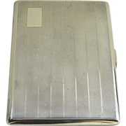 Sterling Silver Cigarette Case by Steele & Dolphin Hallmarked Chester, England 1945