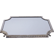SOLD Victor Saglier Silver Plated Footed Mirrored Plateau French Late 19th Century