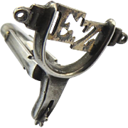 Vintage Sterling Spur Cufflink Charm One Only Brand EZ
