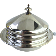 Kingsway Silver Plate English Three Part Butter Serving Dish