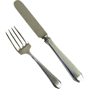 """Vintage Sterling Silver Towle Youth Set Fork Knife """"Cascade"""""""