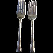 Pair of Gorham Sterling Silver 1938 Salad Forks in Greenbrier Pattern