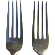 Pair of Gorham Sterling Silver 1938 Dinner Forks in Greenbrier Pattern