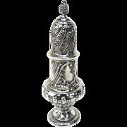 Large English Sterling Silver Hallmarked Muffineer Sugar Caster by Thomas Bradbury & Sons 1890