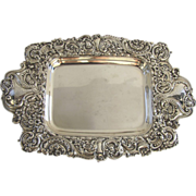 Sterling Silver Repousse Tray by Gorham c1900